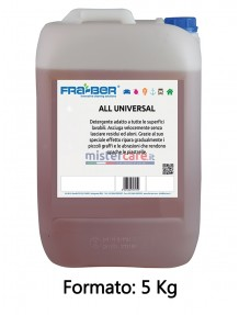 Fra-Ber All Universal - Multiuso per tutte le superfici e pavimenti - 5 Kg