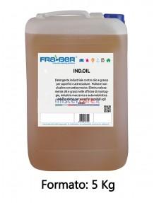 Fra-Ber Ind.Oil - Detergente industriale contro olio e grasso - 5 Kg