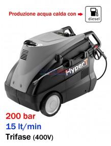 Lavor Hyper TR 2015 LP - Idropulitrice professionale ad acqua calda (200 Bar - 15 lt/min)